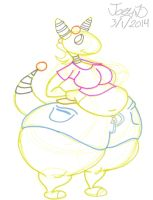 Thick thighed Ampharos girl by Joe-Awesome93