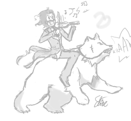 Violinists and Bears by Invader-Elze