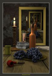 Still life with candle by slepalex