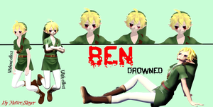 [MMD] Creepypasta - Ben Drowned [DL] by Flaterslayer