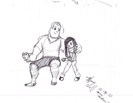 Me and Dad by Violet-Parr