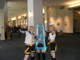 THE VOCALOIDS is  At Naka Kon by irishwolf8504