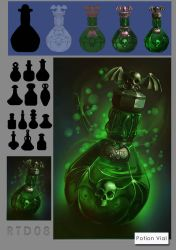 RTD08 Potion/poison Vial by IRealTidyDesignI