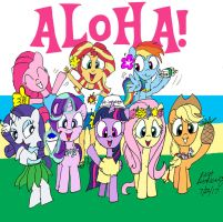 The Mane Eight in Hawaii (Final Version) by NewportMuse