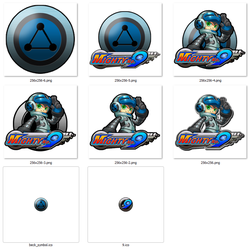 Mighty No. 9 Dock and Desktop Icons by DuoDynamo