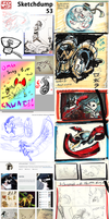 Sketchdump #53 - large by Ahkward