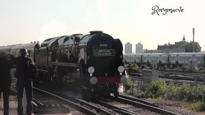 Southern 35028 'Clan Line' at Clapham Junction by The-Transport-Guild