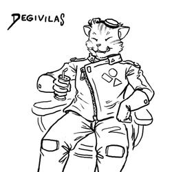 Degivilas enjoying space-beer by CarrionTrooper