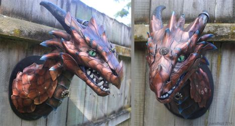 Copper dragon by zarathus