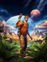 Outcast Second Contact Cover by atomhawk