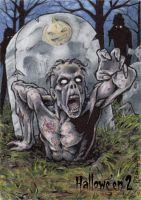 Zombie Sketch Card - Hallowe'en 2 by tonyperna