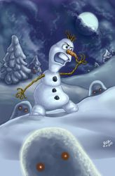 FROZEN -- DARK OLAF ...ahem. Again by resa-challender