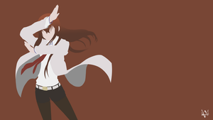 Makise Kurisu (Steins Gate) Minimalist Anime WP by Lucifer012