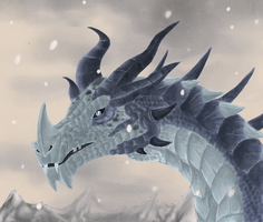 .:Frost dragon:. by ThousandLeaves