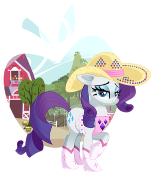 Rarity Cowgirl by NabbieKitty