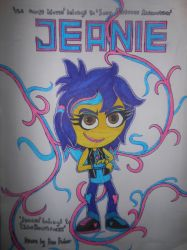Jeanie character poster by sgtjack2016