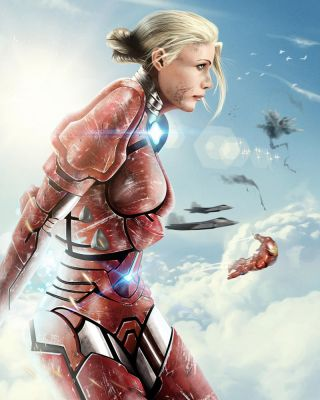 Pepper Potts (Gwyneth Paltrow) Rescue Armor by ProjectVirtue