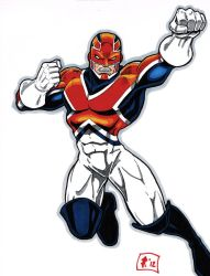 Captain Britain drawing 4-17-12 by Jrascoe