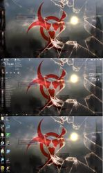 Rainmeter And Desktop Toggle by angeloftheafterlife