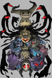 Ghost Pokemon by Foxeaf