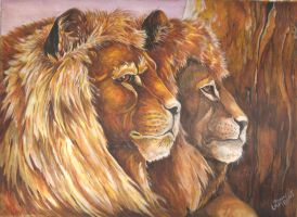 Twin Lions by Batman4art