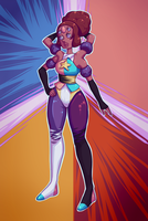 Pearl and Garnet Fusion : Pernet? by AllNamesAreClaimed12