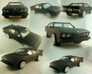 BMW m5 Paper Model by bonnibabe