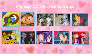 My top 10 favorite couples by HeinousFlame