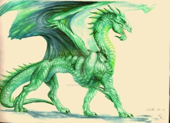 Emerald Dragon - Reference by BrassDragon