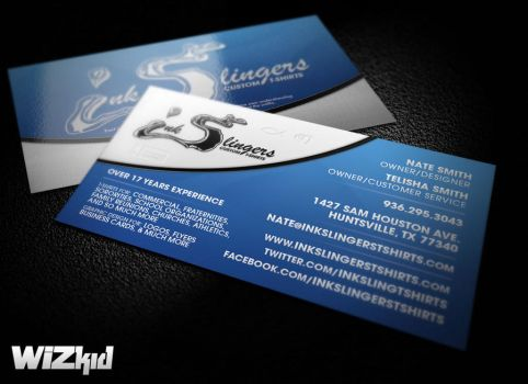 Ink Slingers Business Card by EricWizKidOdom