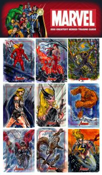 Marvel Greatest Heroes from Rittenhouse Archive by brokenluk