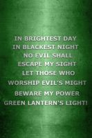 Metallic Green Lantern Oath by KalEl7