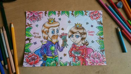 For Jellybabiebunny:King Thristle and Queen Rose by BveanikaS