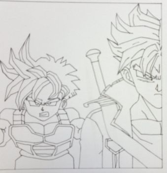 Gohan and Future Trunks by Cravee