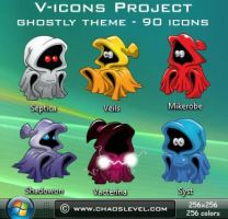 V icons - Ghostly Theme by Veinctor