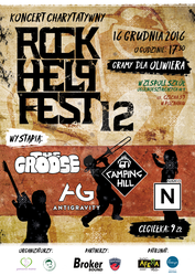 Rock Help Fest 12 - Official Poster by melon1992