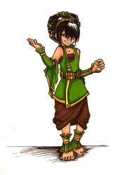 Toph - You wanna fight? by Kit-Kat-Choco