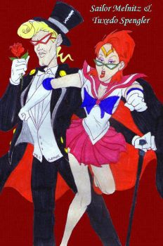 Sailor Melnitz and Tuxedo Spengler by tr3forever