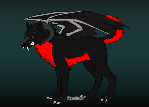 Demon Wolf Adopt: OPEN by DarciathePurpleWolf