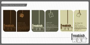 Freakish name card design by iamcadence