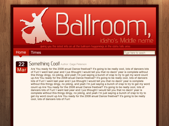 Ballroom website Mockup by JustGage