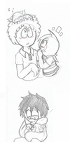 Happy and sad doodles (south park) by Kitshime-SP