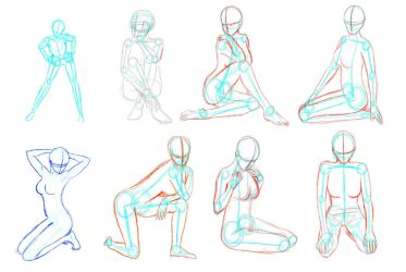 Female poses by Scilentor