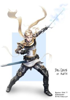 C: Del'Cerys, Half-elf Cleric by bchart