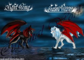 Sisters of the demon wolf's by ThePaintersShadow