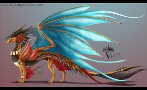Design Commission: Nohea Dragon Form. by PandiiVan