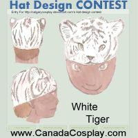 White Tiger Hat Design by sniffybibble029