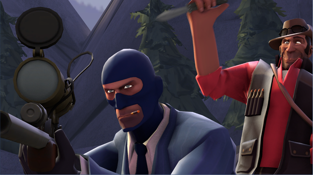 Sniper and Spy SourceFilmmaker by Uberman765