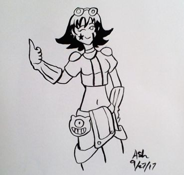 Ink Test: Molly by RedVioletPanda