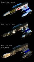 E-Wing Variants by ChrisNs